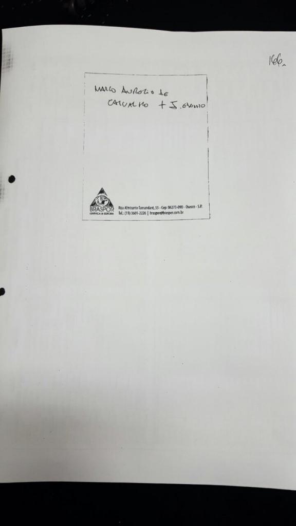 Documento constante da delação da JBS, devidamente homologada